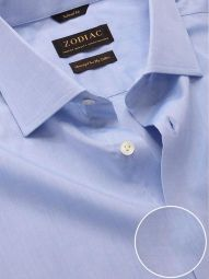 Chambrey Sky Cotton Tailored Fit Formal Solid Shirt