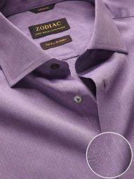 Chianti Lilac Cotton Tailored Fit Evening Solid Shirt