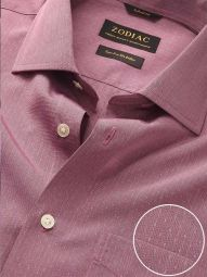 Chianti Rose Cotton Tailored Fit Evening Solid Shirt