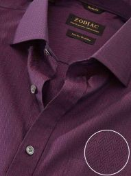 Chianti Maroon Cotton Classic Fit Evening Solid Shirt
