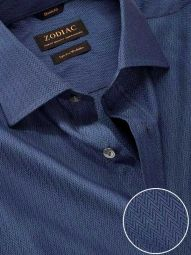 Chianti Navy Cotton Classic Fit Evening Solid Shirt