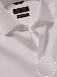 Cione White Cotton Classic Fit Formal Solid Shirt
