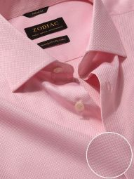 Cione Pink Cotton Tailored Fit Formal Solid Shirt