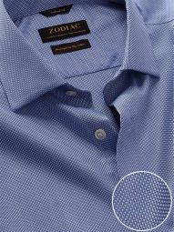 Cione Blue Cotton Tailored Fit Formal Checks Shirt