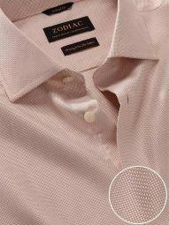 Cione Cream Cotton Tailored Fit Formal Checks Shirt