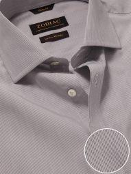 Cricoli Light Grey Cotton Classic Fit Formal Striped Shirt