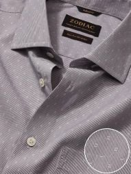 Cricoli Anthra Cotton Tailored Fit Formal Striped Shirt