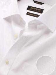 Da Vinci White Cotton Classic Fit Formal Solid Shirt
