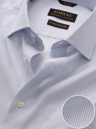 Da Vinci Sky Cotton Tailored Fit Formal Striped Shirt