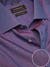 Dorzano Purple Cotton Classic Fit Casual Solid Shirt