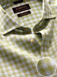 Positano Mint Linen Classic Fit Casual Checks Shirt