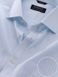 Marchetti Sky Cotton Classic Fit Formal Striped Shirt