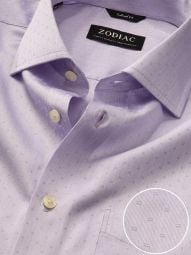 Marchetti Lilac Cotton Tailored Fit Formal Solid Shirt