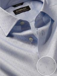 Marchetti Sky Cotton Tailored Fit Formal Solid Shirt
