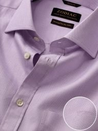 Marinetti Lilac Cotton Classic Fit Formal Solid Shirt