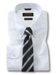 Marinetti White Cotton Classic Fit Formal Solid Shirt