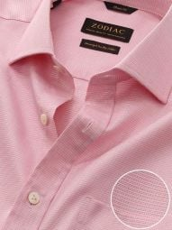 Marinetti Red Cotton Classic Fit Formal Solid Shirt