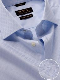 Matera Sky Cotton Tailored Fit Formal Solid Shirt