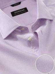 Mazzaro Lilac Cotton Tailored Fit Formal Checks Shirt