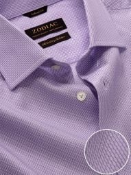 Montefalco Lilac Cotton Tailored Fit Formal Solid Shirt