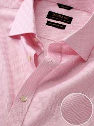 Monteverdi Pink Cotton Classic Fit Formal Solid Shirt