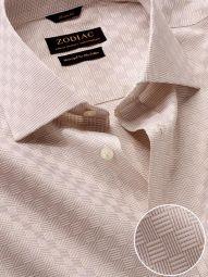 Monteverdi Sand Cotton Classic Fit Formal Solid Shirt