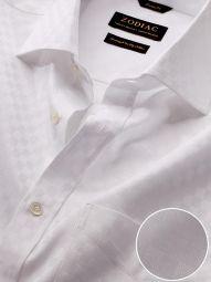 Monteverdi White Cotton Classic Fit Formal Solid Shirt