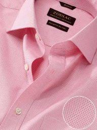 Monteverdi Red Cotton Classic Fit Formal Solid Shirt