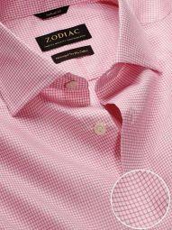 Novella Pink Cotton Tailored Fit Casual Checks Shirt