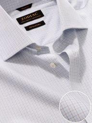 Palladio Blue Cotton Classic Fit Formal Checks Shirt