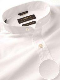 Premium White Cotton Classic Fit Casual Solid Shirt