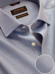 Roreto Blue Cotton Classic Fit Casual Solid Shirt