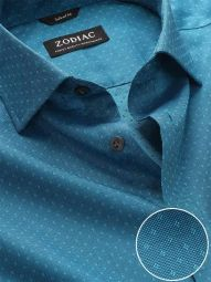 Savuto Turquoise Cotton Classic Fit Evening Solid Shirt