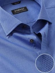 Savuto Blue Cotton Tailored Fit Evening Solid Shirt