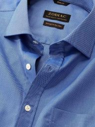 Structure Ink Cotton Tailored Fit Formal Solid Shirt
