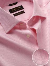 Tramonti Pink Cotton Tailored Fit Formal Solid Shirt