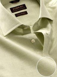 Venete Mint Cotton Classic Fit Formal Melange Solid Shirt