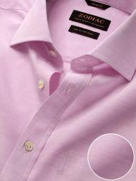Venete Lilac Cotton Classic Fit Formal Melange Solid Shirt