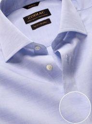 Venete Sky Cotton Classic Fit Formal Melange Solid Shirt