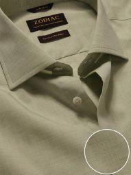 Venete Mint Cotton Tailored Fit Formal Melange Solid Shirt