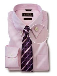 Vercelli Pink Cotton Tailored Fit Formal Striped Shirt