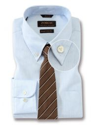 Vercelli Sky Cotton Tailored Fit Formal Striped Shirt