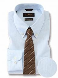 Vercelli Sky Cotton Classic Fit Formal Striped Shirt