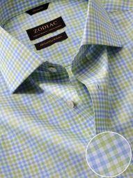 Vivace Mint Cotton Classic Fit Formal Checks Shirt