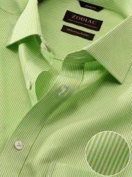 Vivace Mint Cotton Classic Fit Formal Striped Shirt