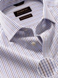Volterra Pink Cotton Tailored Fit Casual Checks Shirt