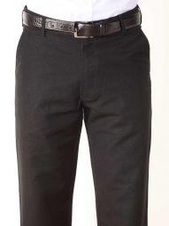 Portofino Linen Classic Fit Black Trouser
