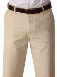 Portofino Linen Classic Fit Olive Trouser
