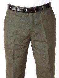 Positano Linen Classic Fit Olive Trouser