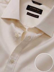 Antonello Cream Cotton Classic Fit Formal Solid Shirt